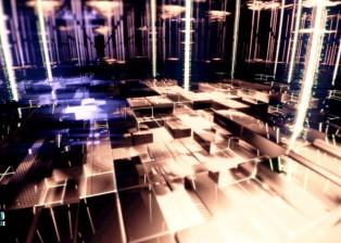 CG, 3D rendered, cinema 4d, landscape cubes sci-fi, by lee robinson, freelance motion graphics designer london, altered tv
