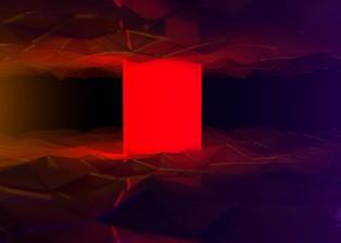 CG, 3D rendered, cinema 4d, render geometric landscape with Hal 2001 obelisk, by lee robinson, freelance motion graphics designer london, altered tv